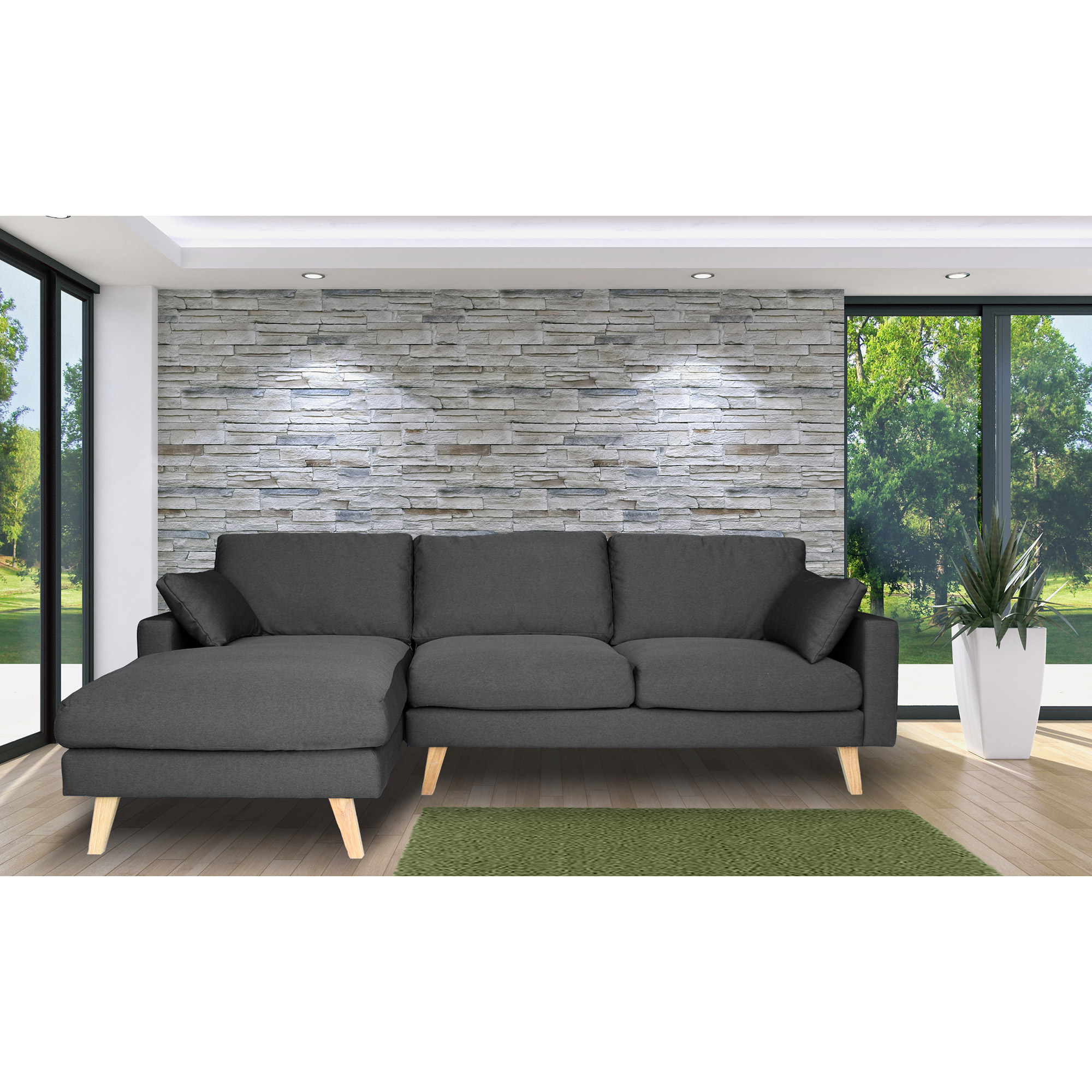 canape sur pied stunning canap places relax willy gris. Black Bedroom Furniture Sets. Home Design Ideas