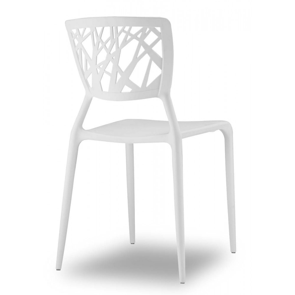 chaise design blanche