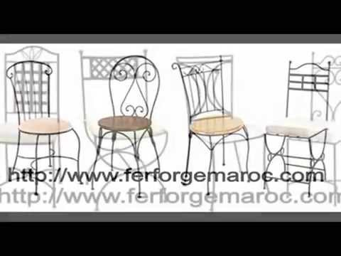 chaise fer forgé