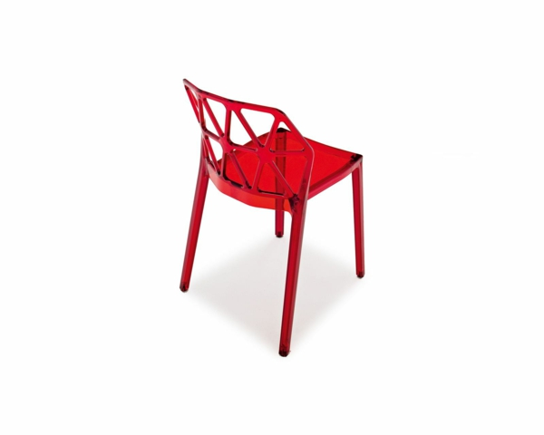 chaise rouge