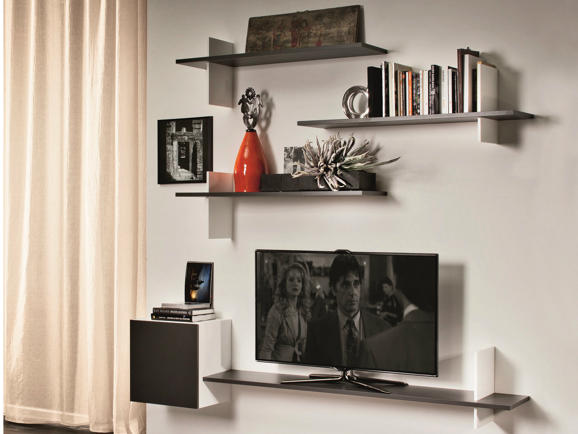 finest etagere murale tv with meuble tv etagere murale. Black Bedroom Furniture Sets. Home Design Ideas