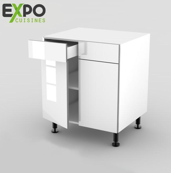 meuble cuisine largeur 55 cm beautiful meuble de cuisine blanc meuble cuisine blanc inox. Black Bedroom Furniture Sets. Home Design Ideas