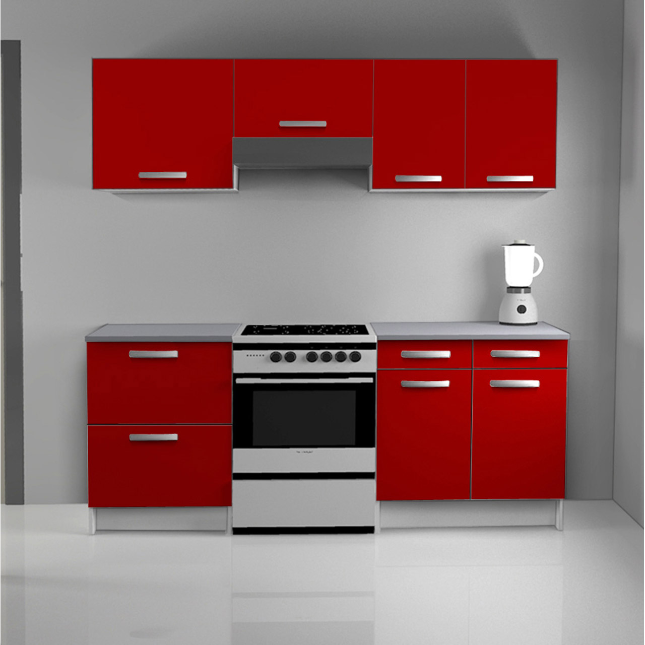 meuble de cuisine rouge id es de d coration int rieure. Black Bedroom Furniture Sets. Home Design Ideas