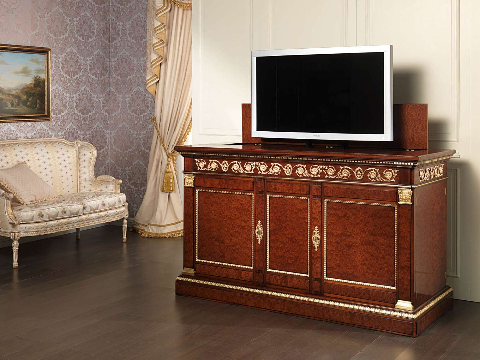 Meuble Tv Acajou Id Es De D Coration Int Rieure French Decor # Meuble Tv En Acajou