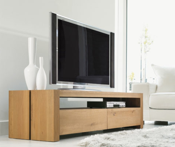 meuble tv bois moderne 10 id es de d coration int rieure french decor. Black Bedroom Furniture Sets. Home Design Ideas