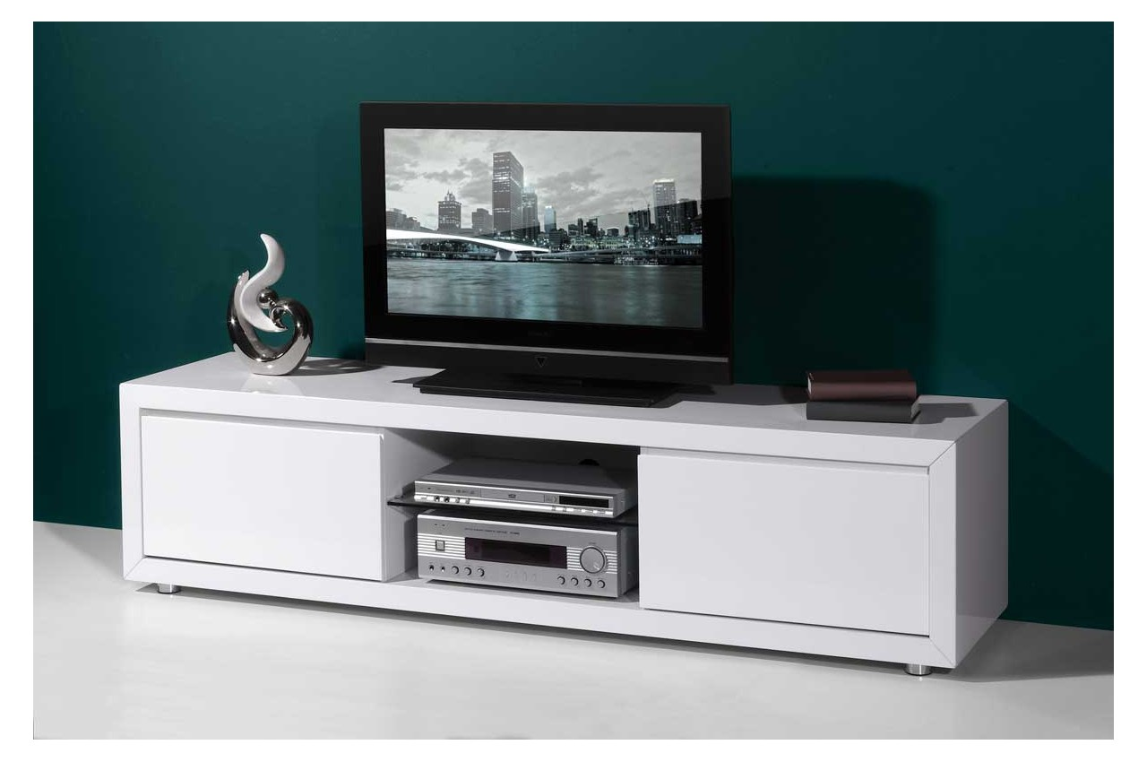 Meuble tv gris blanc id es de d coration int rieure for Meuble tv blanc gris
