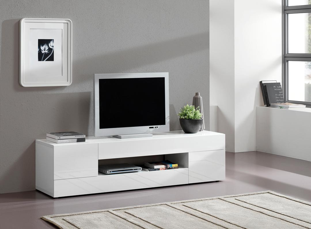 meuble tv laqu noir et blanc id es de d coration int rieure french decor. Black Bedroom Furniture Sets. Home Design Ideas