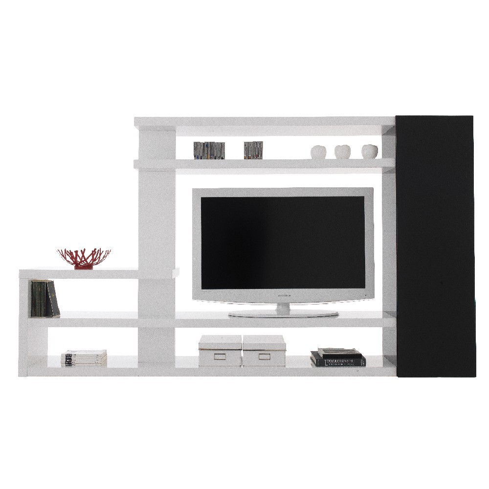 meuble tv laqu noir et blanc id es de d coration. Black Bedroom Furniture Sets. Home Design Ideas