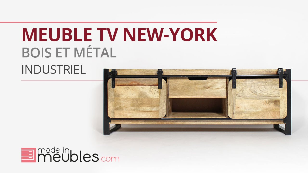 meuble tv metal