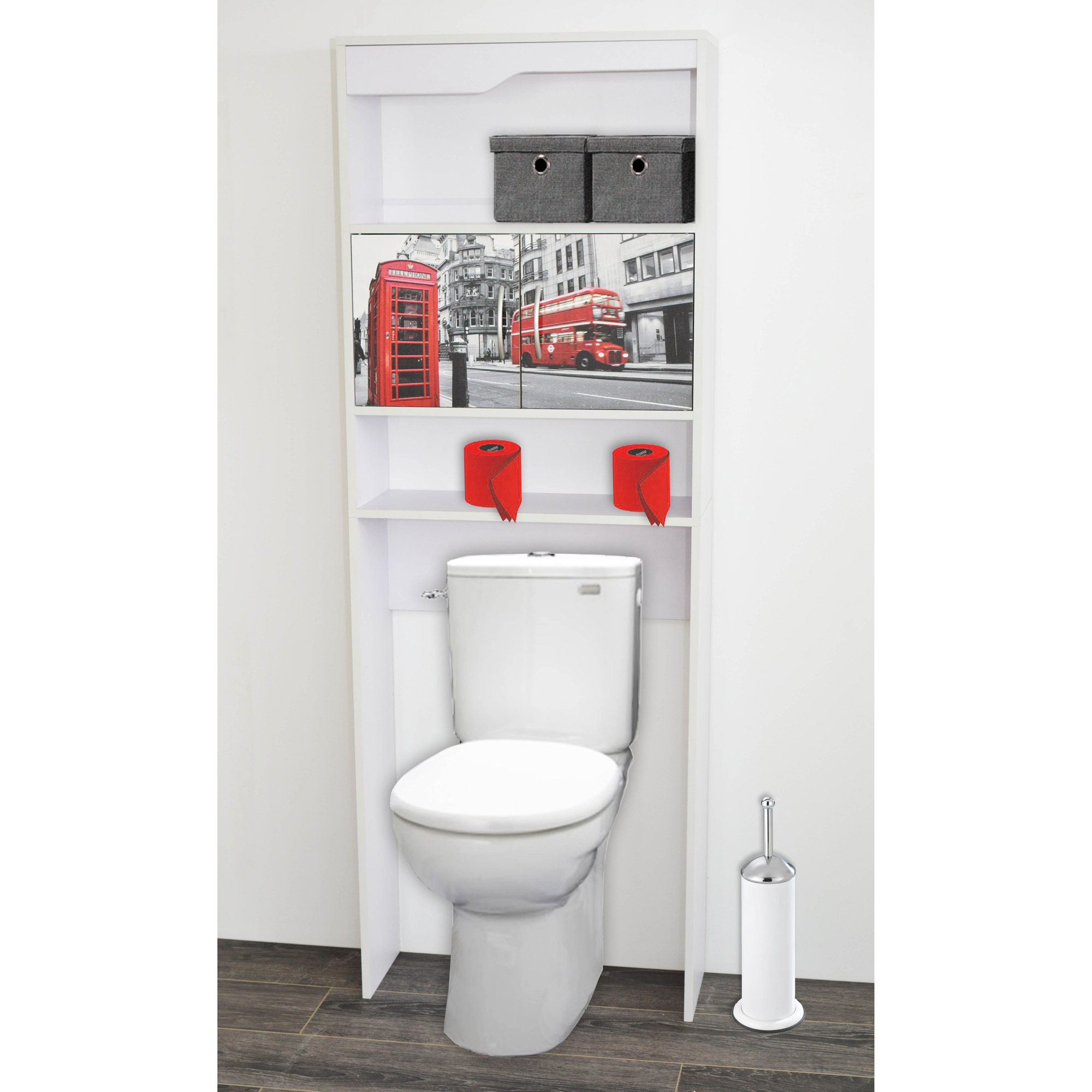 Miroir adhsif gifi with meuble wc gifi - Meuble wc design ...