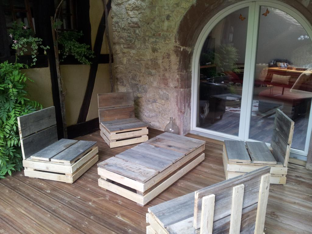 Awesome salon de jardin palette acheter pictures amazing for Construction de salon de jardin en palette