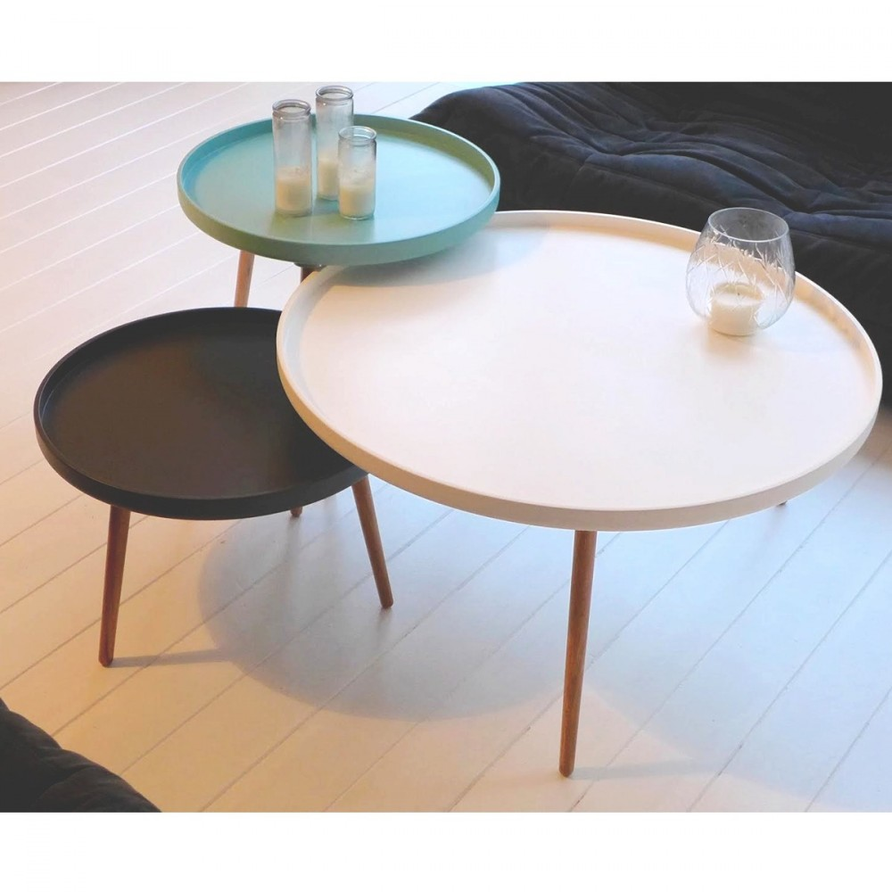 petite table basse blanche