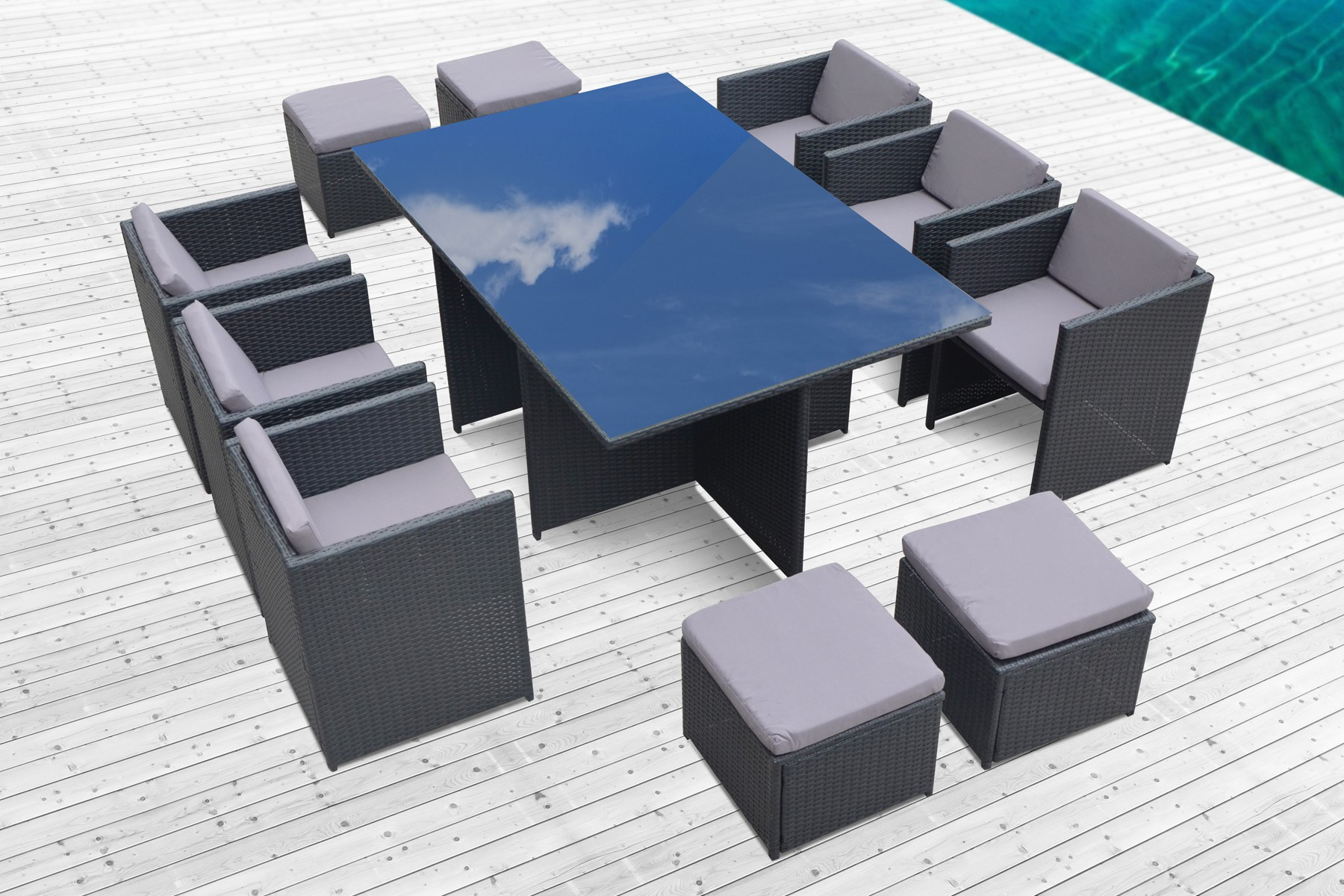 Awesome Table De Jardin Resine Et Aluminium Gallery - Awesome ...