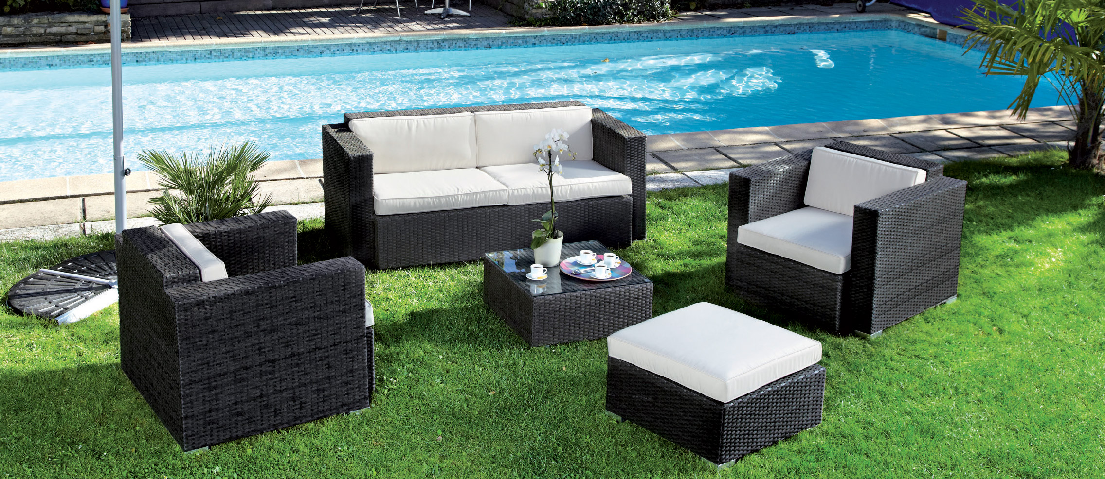 salon de jardin en r sine tress e pas cher belgique. Black Bedroom Furniture Sets. Home Design Ideas