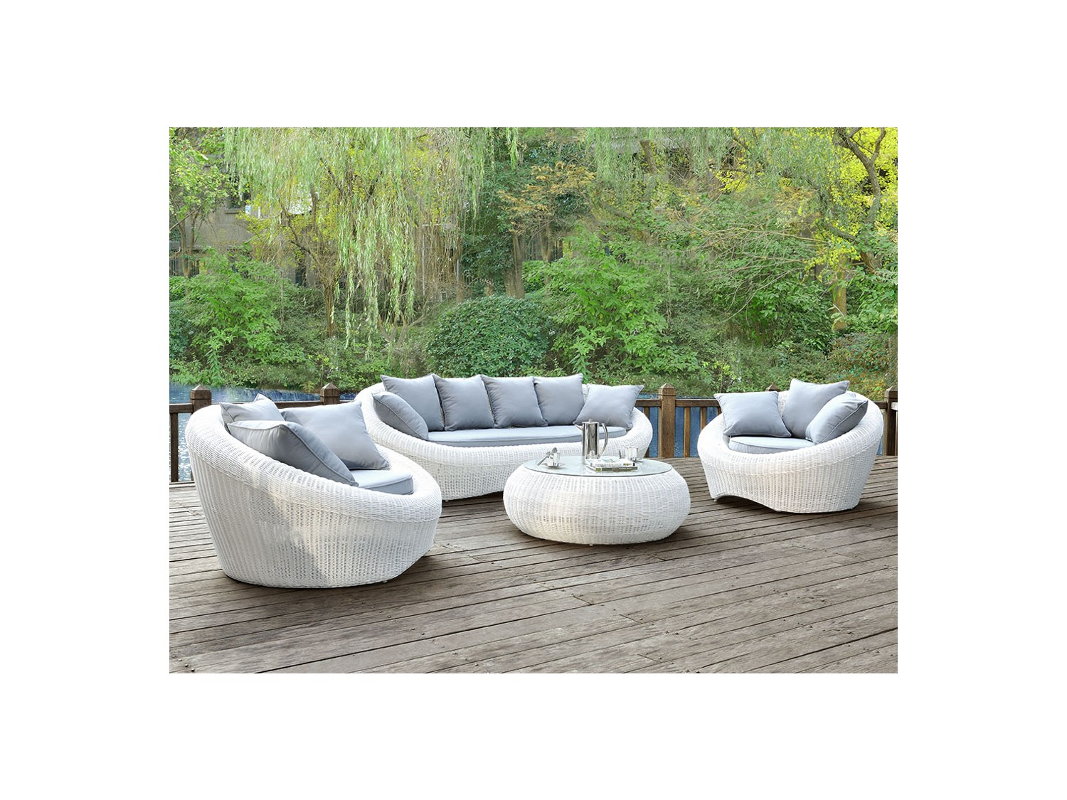 salon de jardin gris et blanc 2 id es de d coration. Black Bedroom Furniture Sets. Home Design Ideas