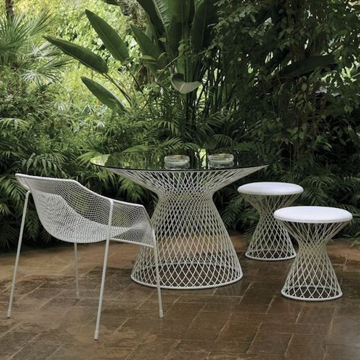 salon de jardin metal