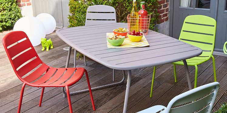 Emejing Table De Jardin Metal Couleur Pictures - House Design ...