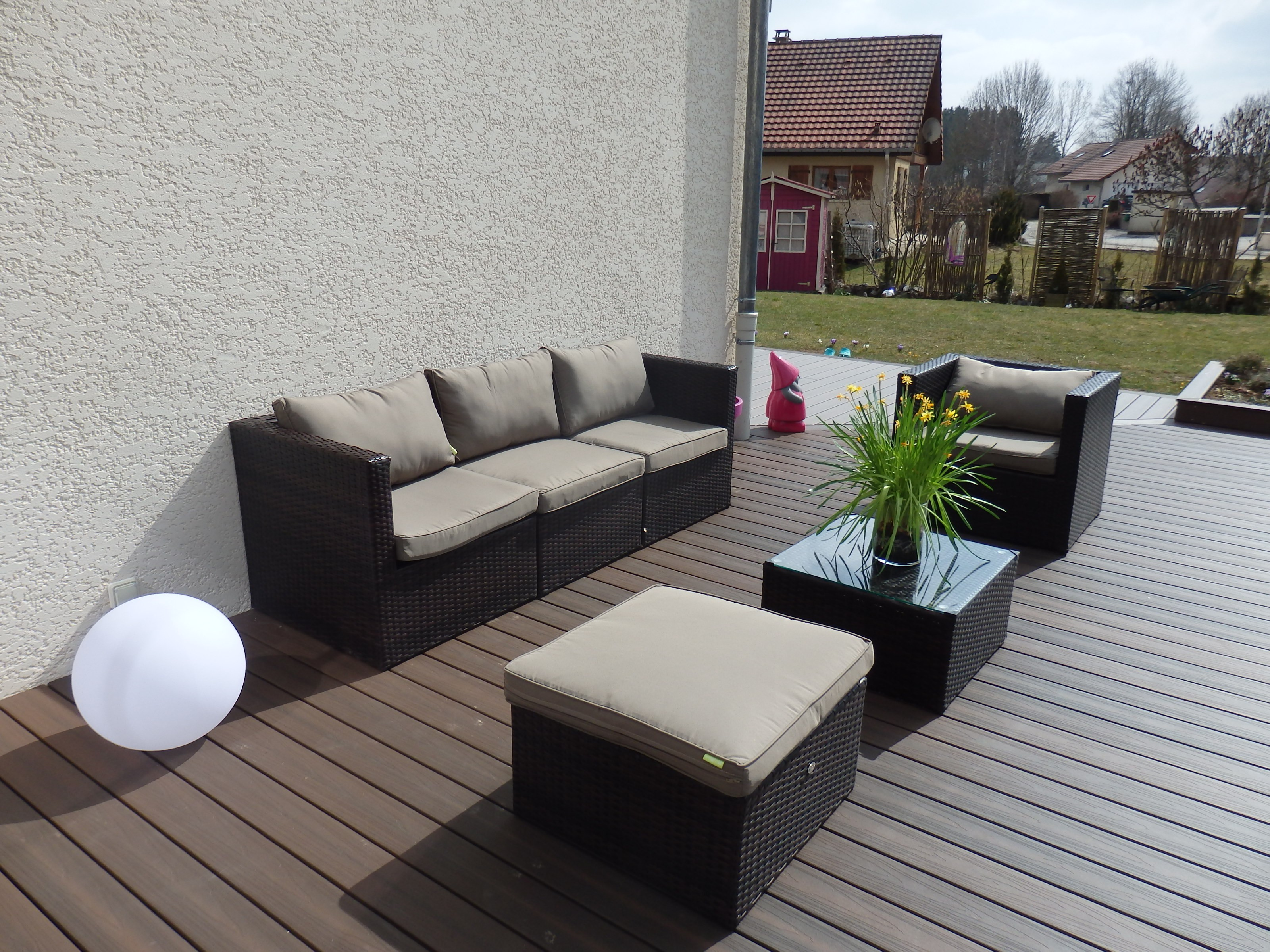 Emejing Table De Jardin Resine Gris Clair Pictures - Awesome ...