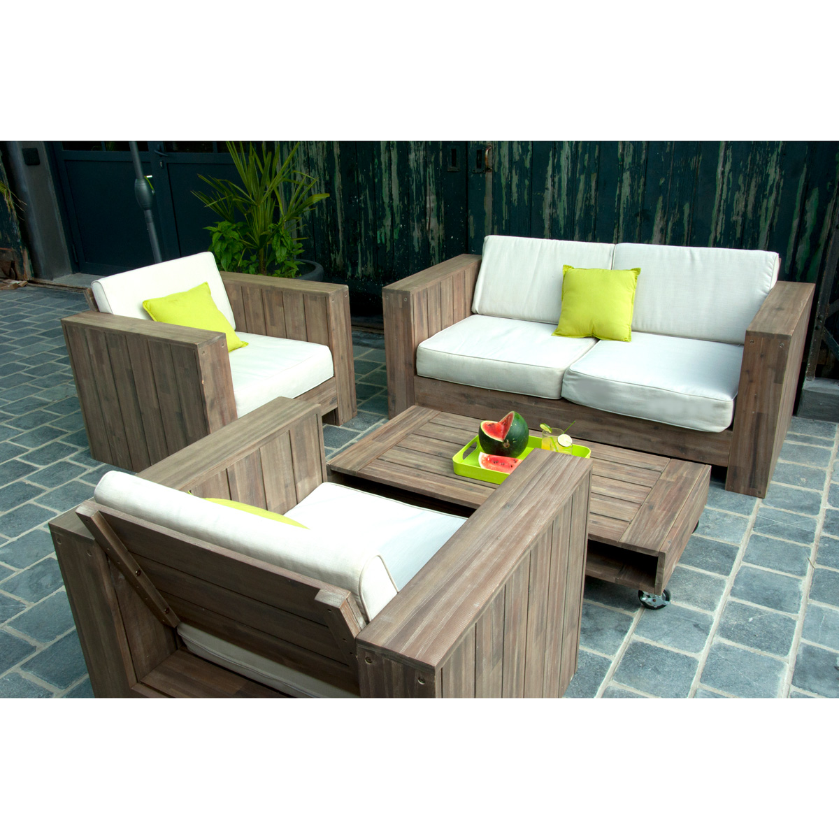 Beautiful salon de jardin bas rond contemporary awesome for Salon de jardin rond pas cher