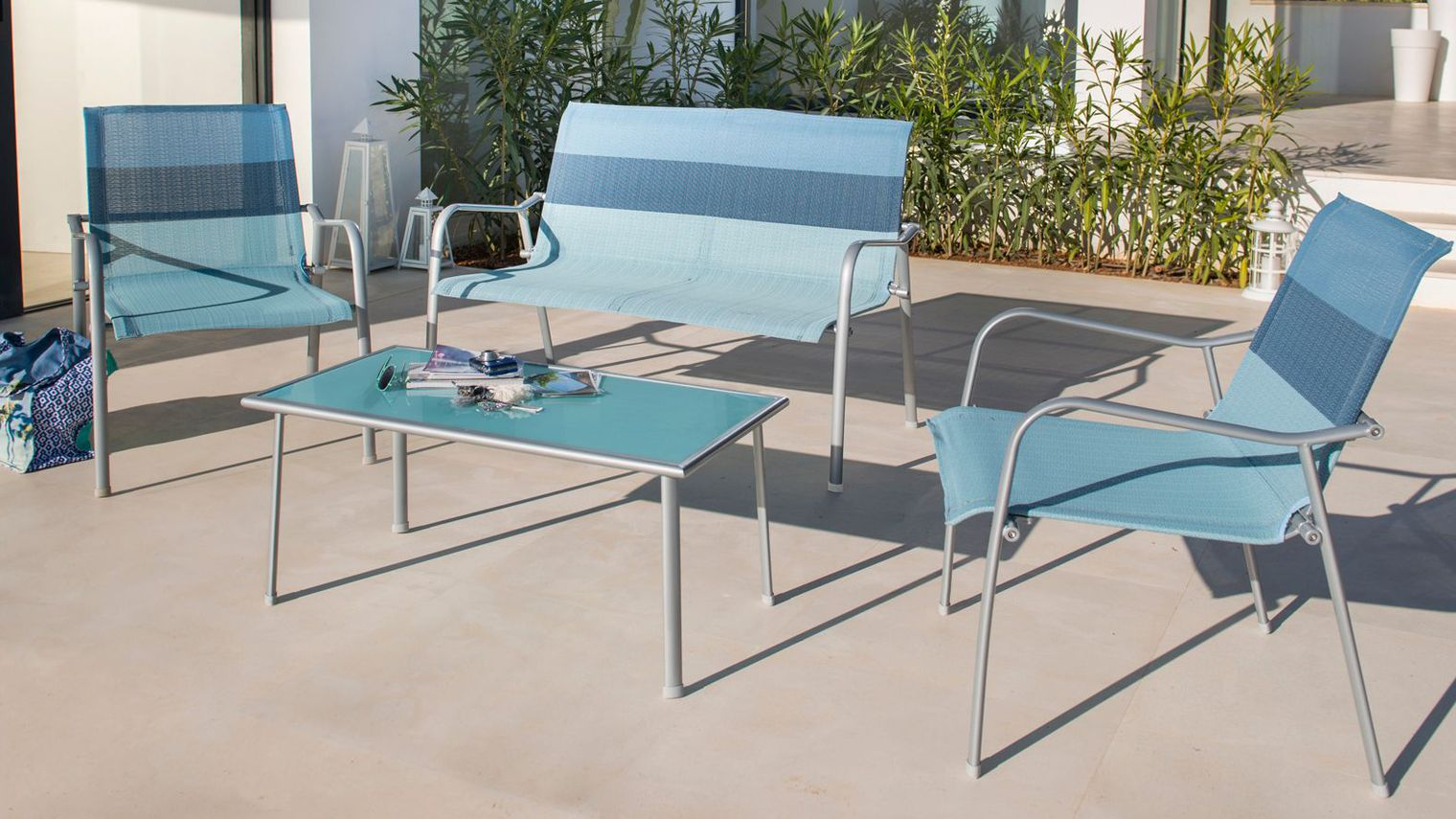 Salon Jardin Textilene. Trendy Salon De Jardin Table Extensible ...
