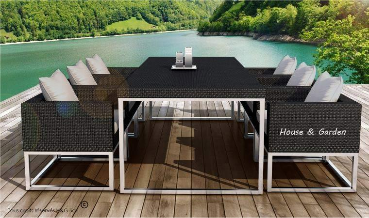 soldes salon de jardin r sine tress e gris 10 id es de. Black Bedroom Furniture Sets. Home Design Ideas