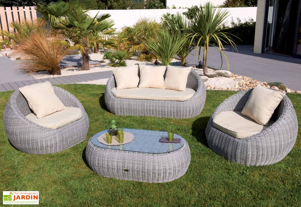 soldes salon de jardin r sine tress e gris id es de. Black Bedroom Furniture Sets. Home Design Ideas