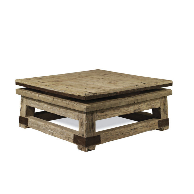 table basse carrée bois
