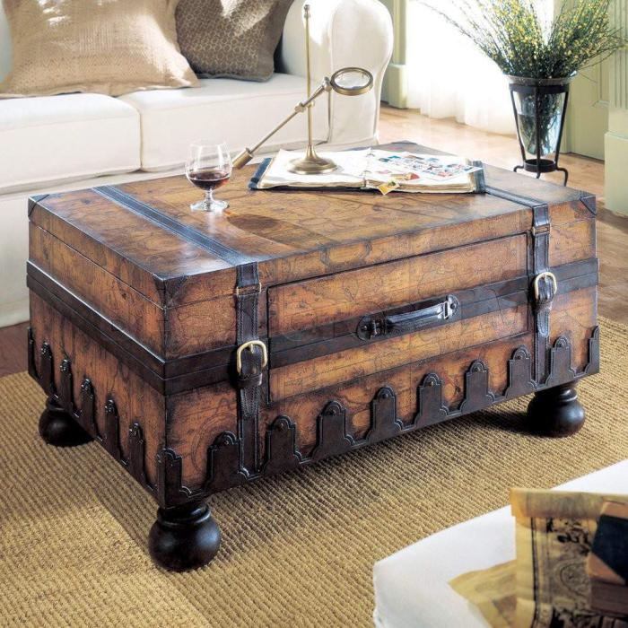 table basse cuir