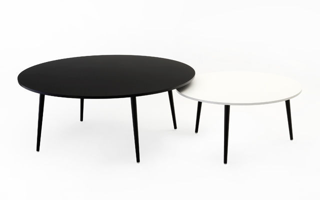 table basse metal noir