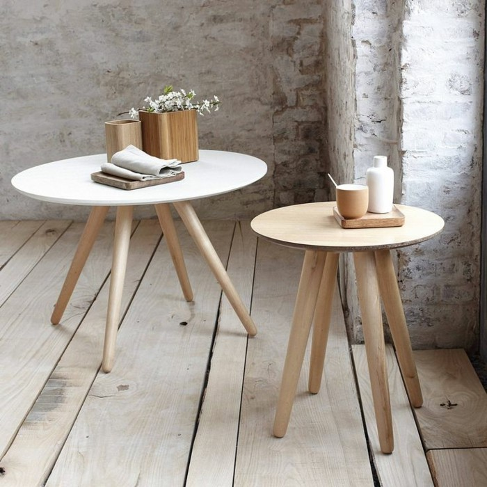 table basse ronde bois