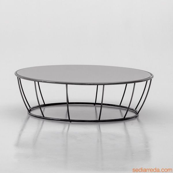 table basse ronde metal