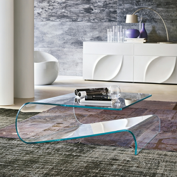 table basse transparente