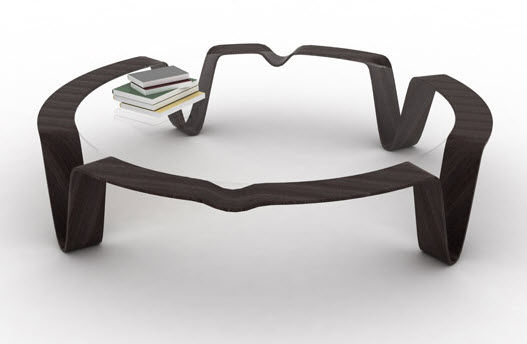 table basse verre design