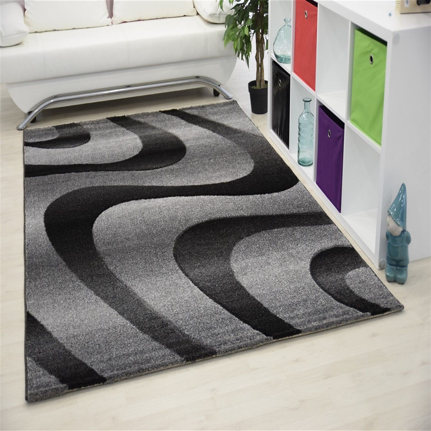 Tapis Salon Gris Et Rose