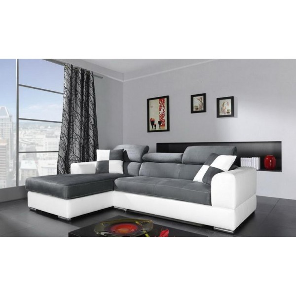 canap d angle blanc pas cher id es de d coration. Black Bedroom Furniture Sets. Home Design Ideas