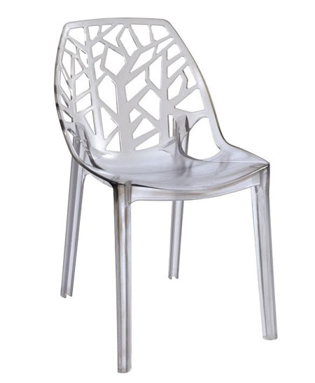 Chaise blanche plastique design id es de d coration for Chaise blanche plastique