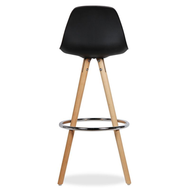 tabouret de bar noir et bois elegant nastrosw tabouret design coque noire pied bois finition. Black Bedroom Furniture Sets. Home Design Ideas