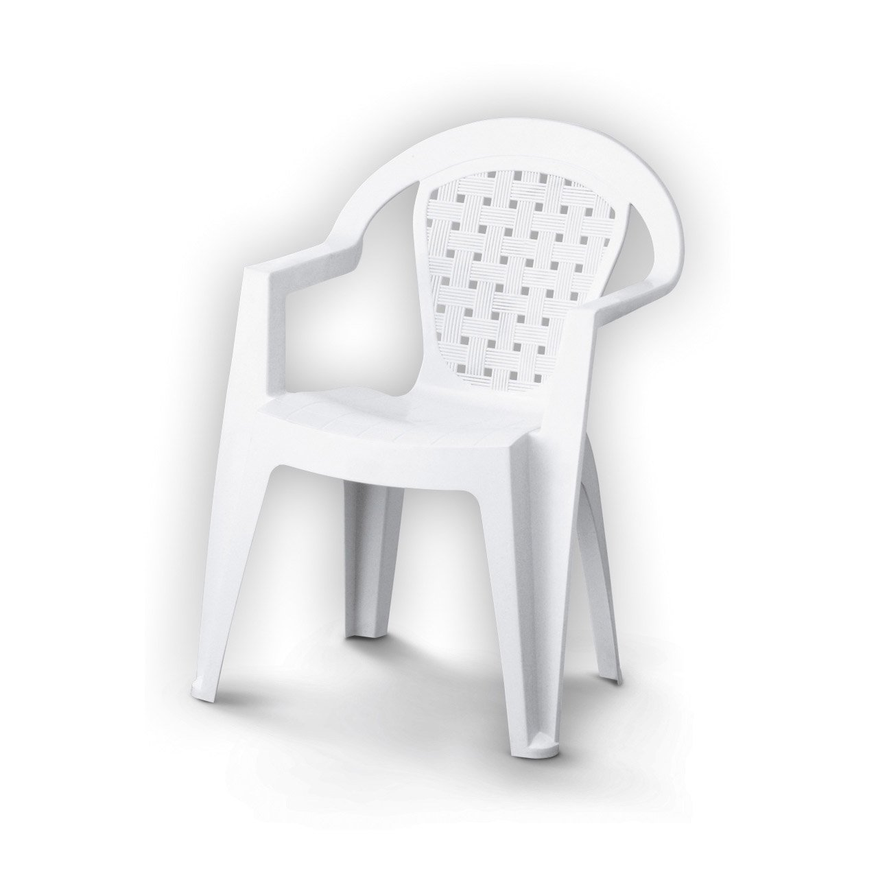 Chaise plastique blanche design id es de d coration for Chaise blanche plastique