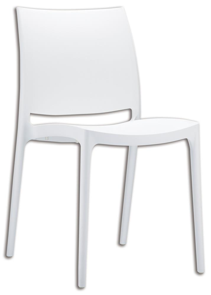 Chaise plastique blanche design 5 id es de d coration for Chaise blanche plastique