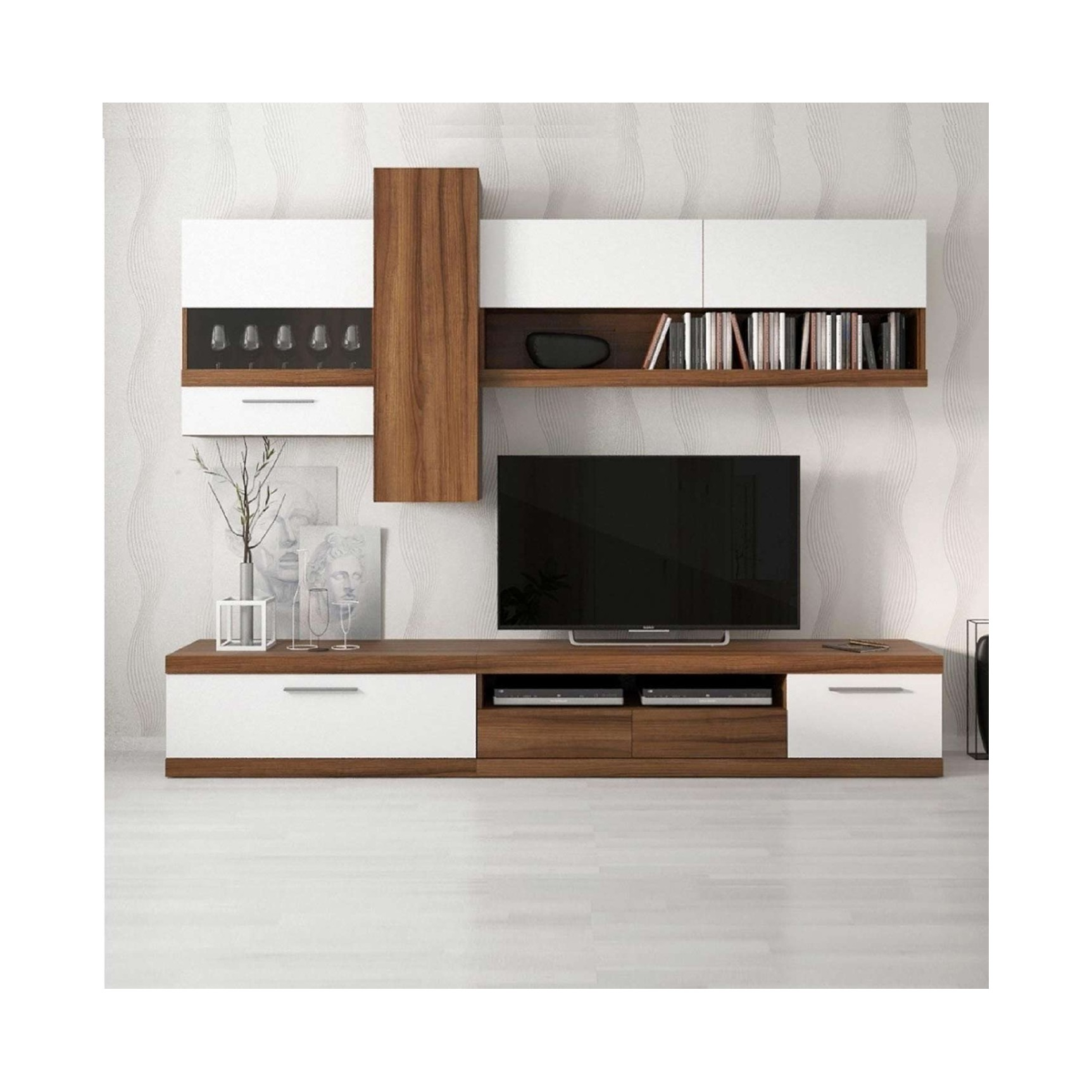 Ensemble meuble tv blanc 19 id es de d coration for Ensemble meuble tv blanc