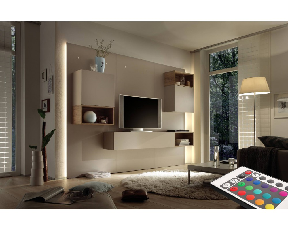 Meuble Tv Suspendu En Bois Woood Armoire Lit Chevet Bureau Table  # Meuble Design Tv Mural
