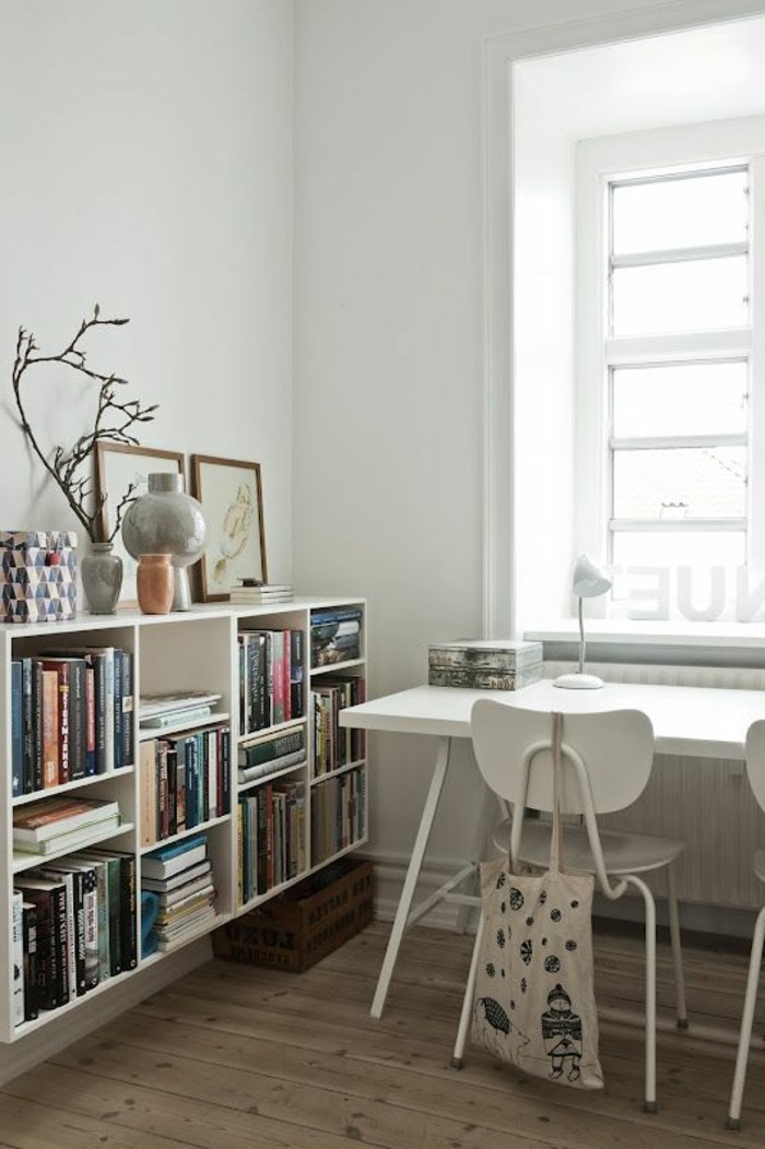 etagere bibliotheque blanche