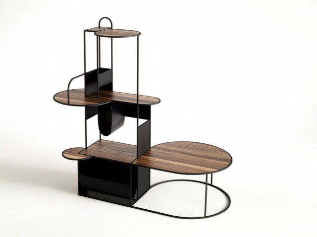 etagere murale bois metal 17 id es de d coration. Black Bedroom Furniture Sets. Home Design Ideas