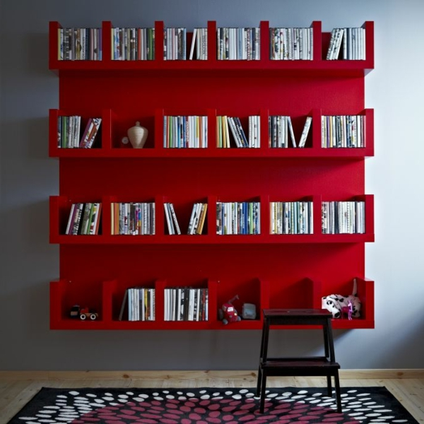 etagere murale rouge 3 id es de d coration int rieure. Black Bedroom Furniture Sets. Home Design Ideas