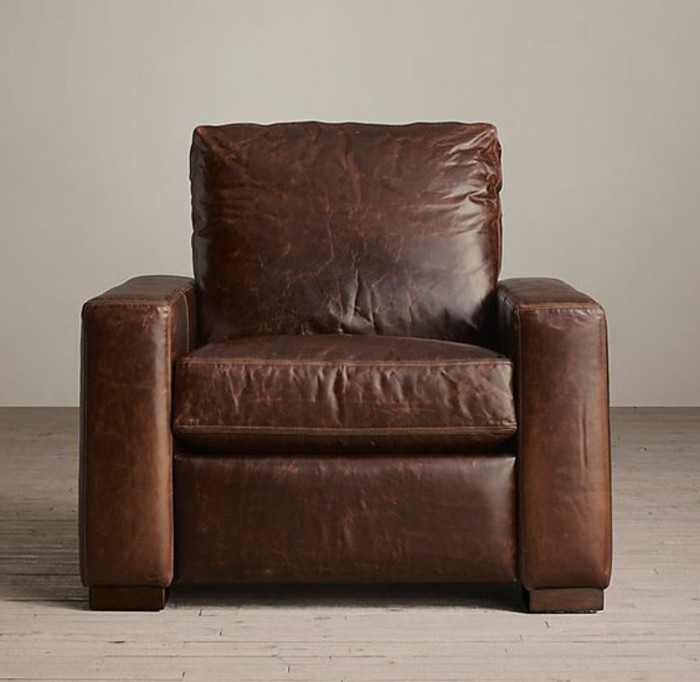 fauteuil cuir relaxation