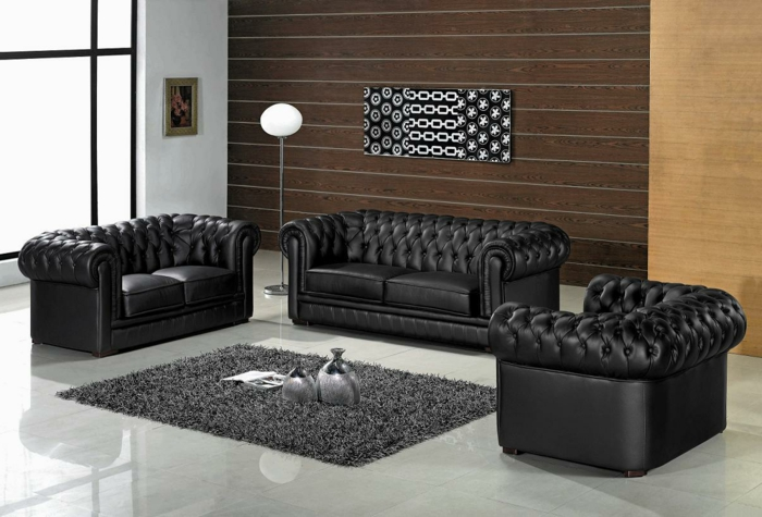 fauteuil de salon en cuir id es de d coration int rieure french decor. Black Bedroom Furniture Sets. Home Design Ideas