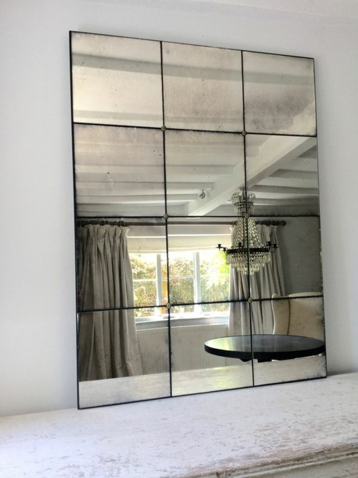 grand miroir mural rectangulaire id es de d coration. Black Bedroom Furniture Sets. Home Design Ideas