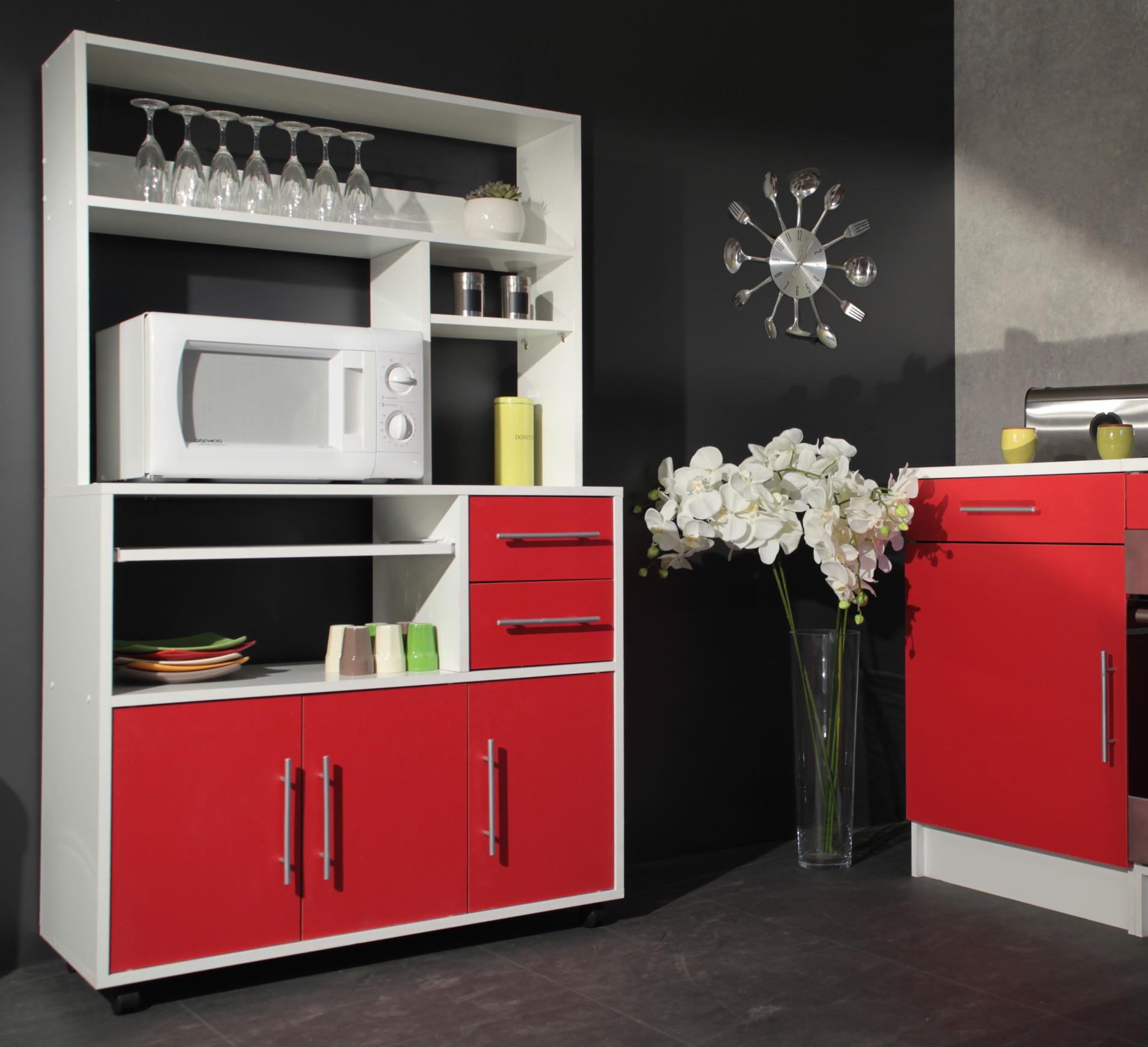 meuble de rangement cuisine cdiscount id es de. Black Bedroom Furniture Sets. Home Design Ideas