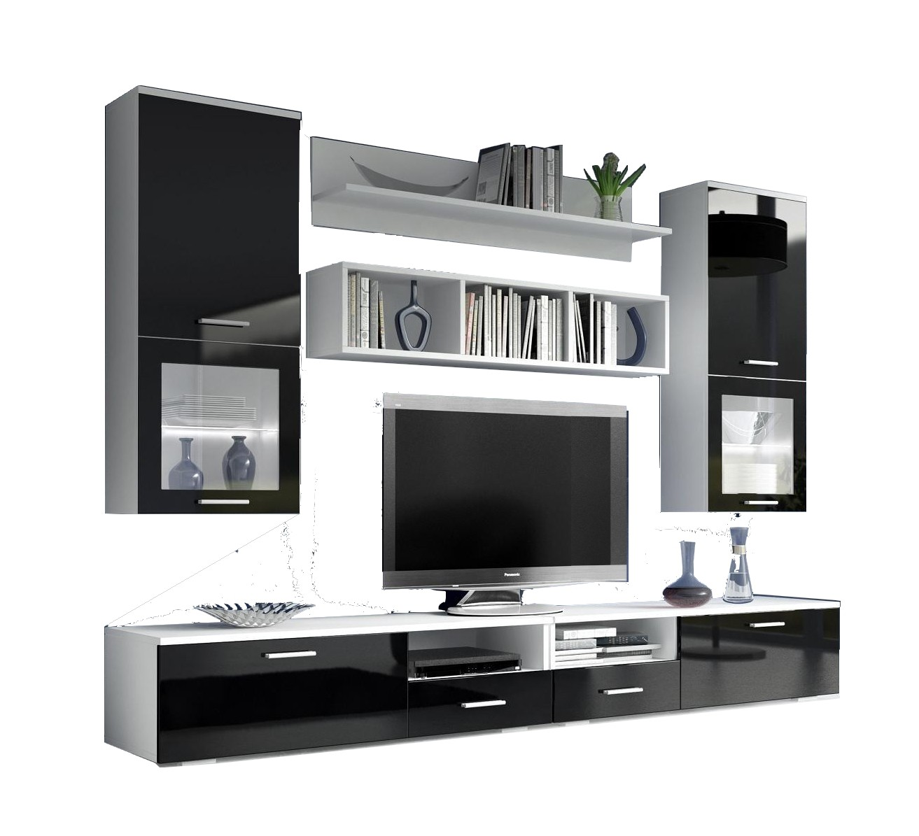 meuble de tele noir id es de d coration int rieure. Black Bedroom Furniture Sets. Home Design Ideas