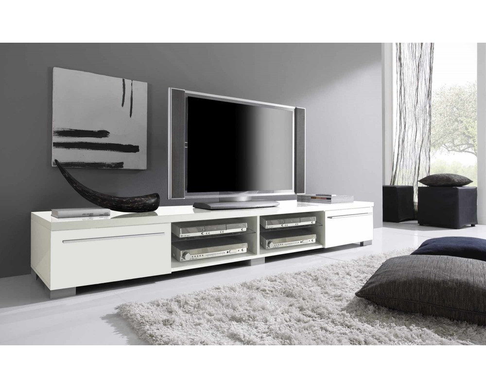 meuble tele blanc et gris 3 id es de d coration. Black Bedroom Furniture Sets. Home Design Ideas